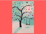Kids Canvas - Snow Swing - Friday, February 8