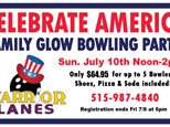 Monthly Family Glow Bowling Party- Pick Your Party Month!