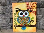 April 19th Whimsey Owl Canvas