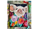 Floral Pig Paint Class - Perry