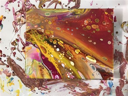 03/16 Acrylic Paint Pouring 2 PM $48