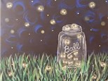 Adult Canvas Night July 30th Catchin' Fireflies