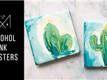 Alcohol Ink Coasters @ Iron Shoe Distillery