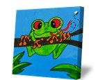 Summer Camp Tuesday, July 17th Rainforest Frog Canvas