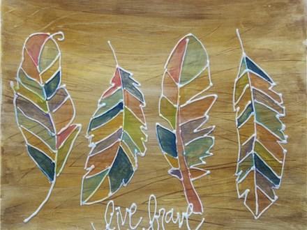 Pottery Painting - Live Brave Platter - 07.24.19