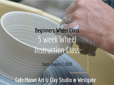 5 Week Class: Beginners Wheel Throwing at Cafe Monet Clay Studio Westgate #2