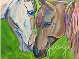 Painted Ponies Canvas Paint & Sip Event, Saturday, July 22, 2017, 6pm