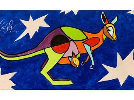 Kangaroo Paint Class