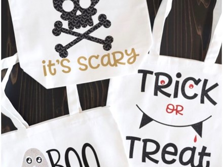 Trick or Treat Tote Bag Oct. 26