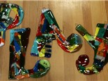 Fused Glass Letters:  $18 per guest