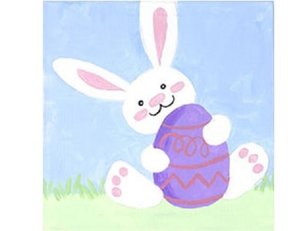 Kids' Canvas Class!  Easter Bunny! 3/30/18