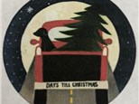Vintage Truck Countdown Till Christmas Plate