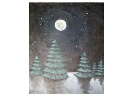 Paint & Sip - Full Moon Pines - Dec. 22 - 7:30 PM