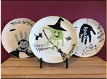 Mommy and Me Halloween Handprint Plates