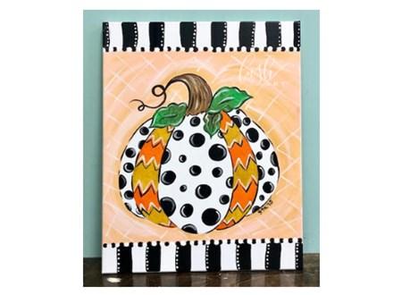 Patterned Pumpkin Paint Class