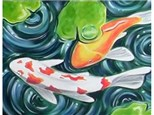 Koi Pond Canvas and Cocktails