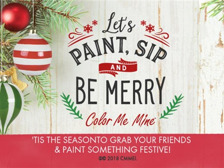 Paint, Sip and Be Merry: November 2nd @ 6-9pm