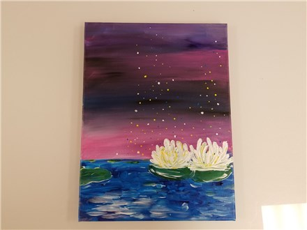 Water Lillies Adult Canvas Class $35