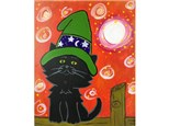 Witch Cat Kids Canvas - 10/20