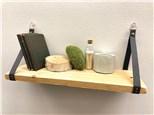 Wood + Leather Shelf