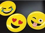 Summer Camp Wednesday, June 20 Set of 4 Emoji Plates