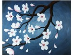 Canvas & Wine Night! Cherry Blossoms! 3/2/18