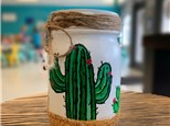 Cactus Mason Jar Holder Class