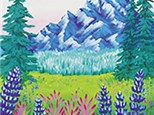 Mighty Mountains Canvas Painting Class at CozyMelts