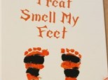 Mommy & Me Trick or Treat Footprint Canvas Oct. 11 $35