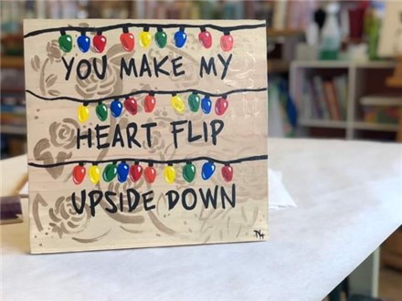 Kid's Board Art - Stranger Things Valentine Board - Afternoon Session - 02.13.19