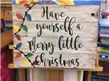 Raegan's Christmas Board Art - 11.12.17