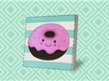 Kids Canvas - Donut Smile - Friday, March 8