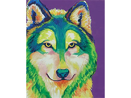 Adult Canvas - Colorful Wolf - Morning Class - 01.18.18