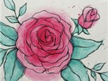 Adult Canvas - Watercolor Rose - 01.06.17 - Evening Session