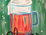 Adult Cheers Beer Stein Canvas Painting Class