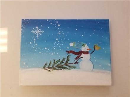 Snowman Canvas Class  $35