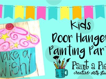 New Kids Door Hanger Painting Party!