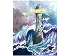 Stormy Sea and Lighthouse - Canvas - Paint and Sip