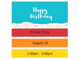 Happy Birthday - Private Paint & Sip - Aug 25