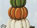 """Stacked Pumpkins"" Canvas Class, September 30th"