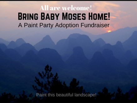 Bring Moses Home! Paint Party Adoption Fundraiser 4/29/17