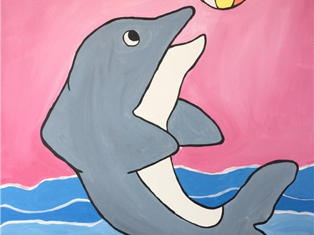 "Kids Night Out Canvas Night! ""Dolphin Beach Day"" Friday, August 12th 6-8pm"