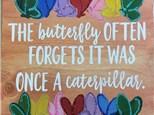Raegan's Butterfly Board Art - 06.16.17