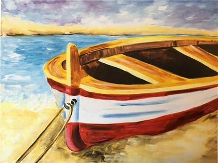 Canvas & Wine Night! Beached Boat! 7/31/18