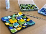 Adult Fused Glass - Colorful Blocks Glass Dish - Evening Session - 03.07.19
