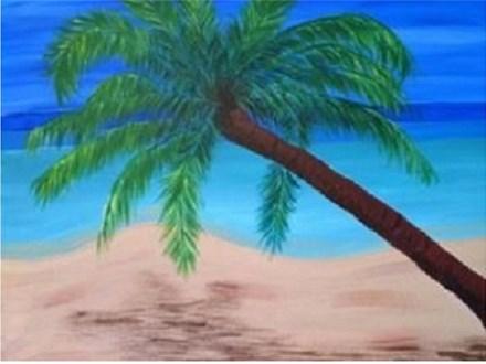 Canvas & Wine Night! Palm Tree Getaway! 7/24/17