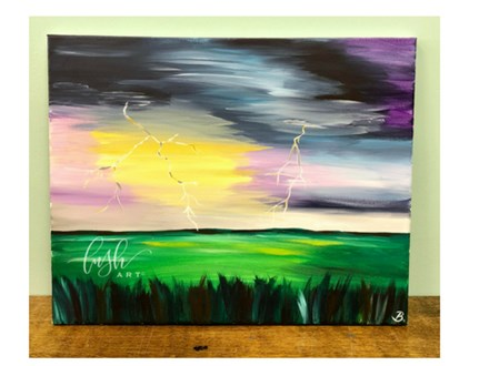 Summer Storm Paint Class