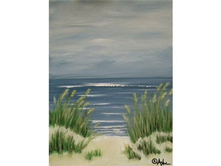 Winter Waves and Seagrass 12x16