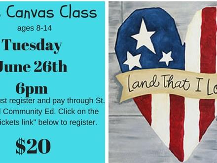 St. Cloud Community Ed Canvas Class Land That I love