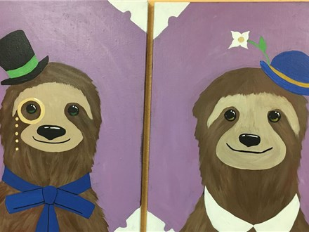 Couples Canvas - Sloth Couple - 02.24.18